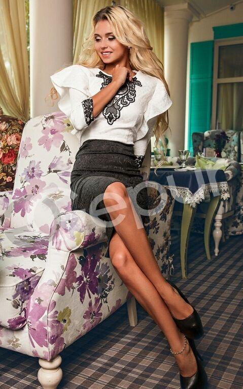 Платье 3D комбинированное
