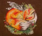 """Схема для вышивания крестиком """"Рыжий соня"""". Отшив."""