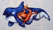 "Cross stitch pattern ""Thetis""."