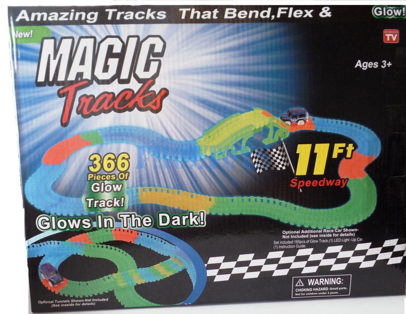 Гоночный трек Magic Tracks 366 деталей с мостом - 1 машинка
