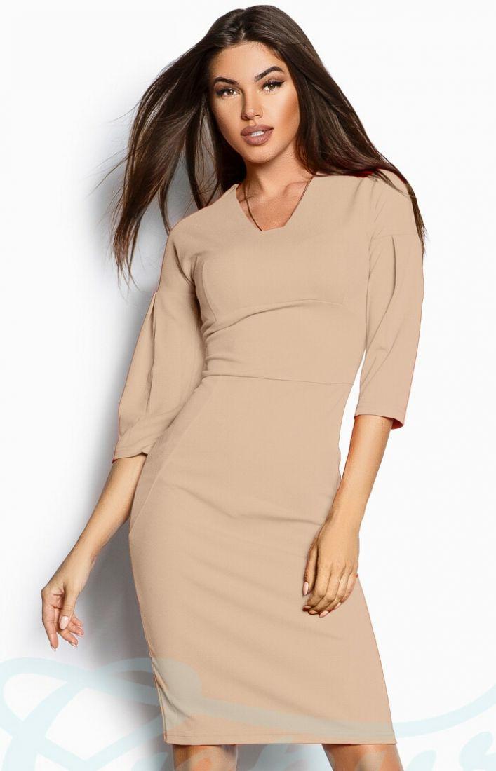 Облегающее креповое платье