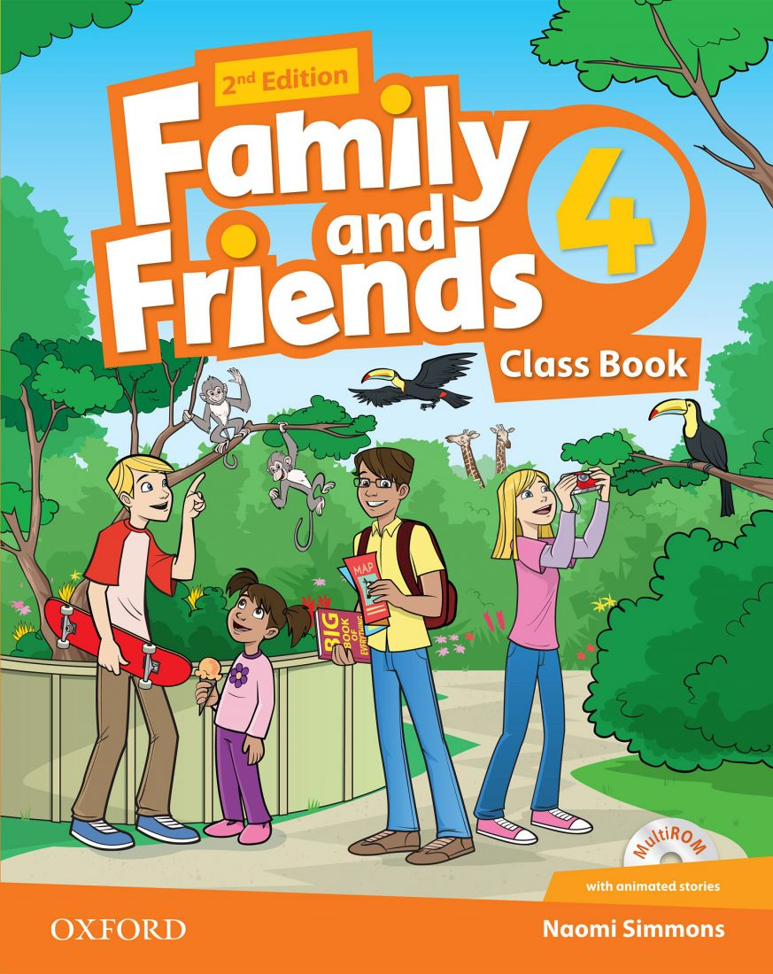Family and Friends 4 2nd Class Book & Workbook with MultiROM