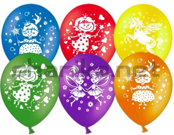 Облако воздушных шаров (12''/30 см) Для девочек, Ассорти, пастель