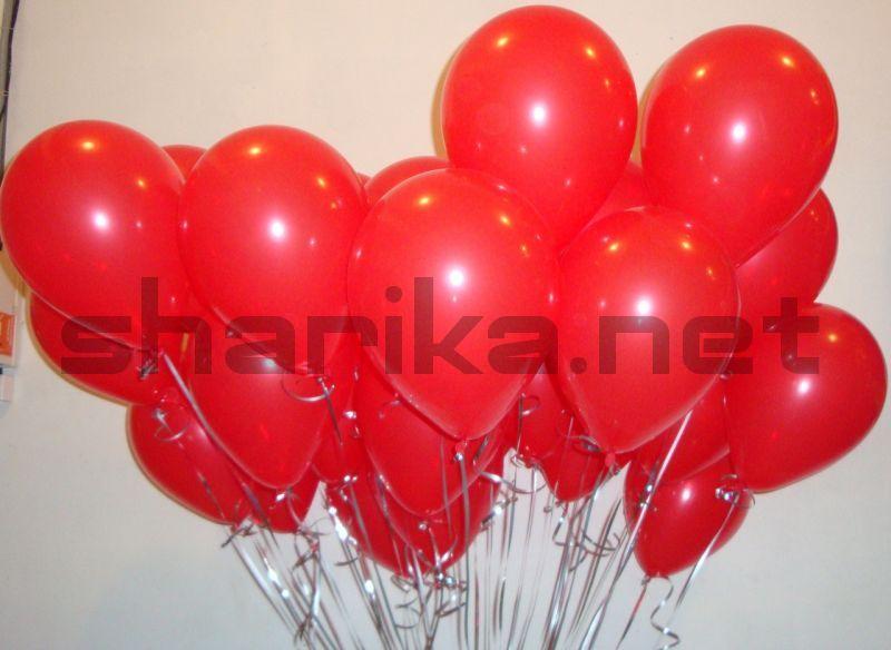 Облако воздушных шаров (12''/30 см) Красный, пастель