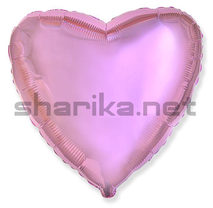 Фольгированный шар (18''/46 см) Сердце, Светло-розовый, 1 шт.