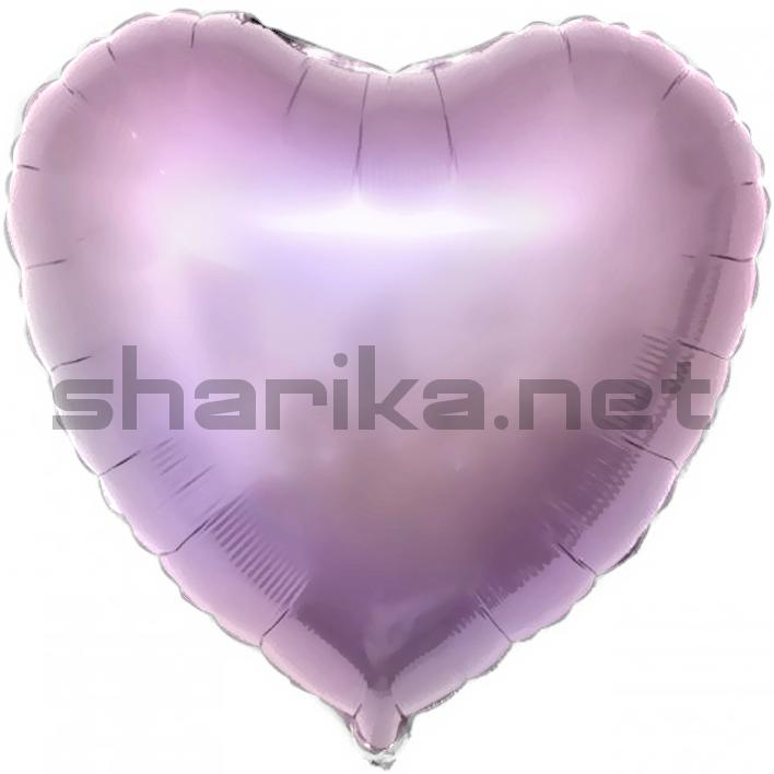 Фольгированный шар (18''/46 см) Сердце, Сиреневый, 1 шт.