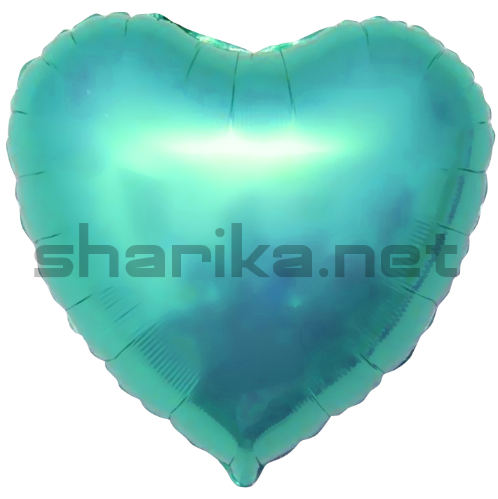 Фольгированный шар (18''/46 см) Сердце, Тиффани, 1 шт.