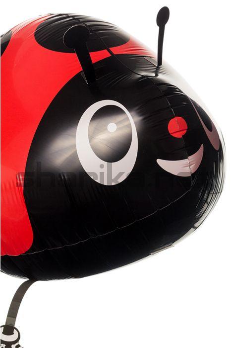 Фольгированный шар (24''/61 см) Ходячая Фигура, Божья коровка, Красный, 1 шт.