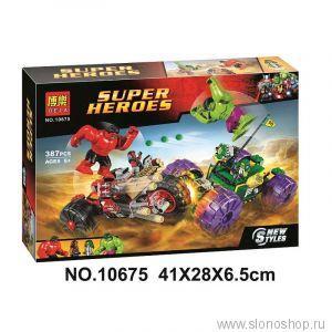 Конструктор аналог лего lego халк против халка 385 деталек bela 10675