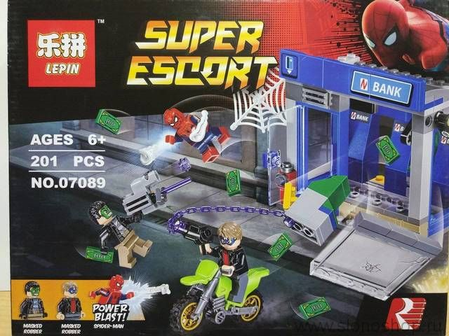Конструктор аналог лего lego ограбление банка 201 деталь 07089