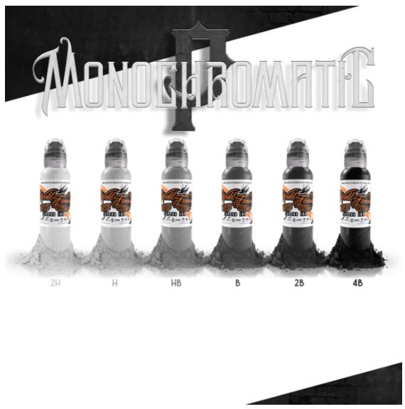 World  Famous Ink Poch Mono Chromatic Set