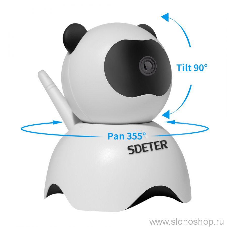 Беспроводная IP WiFi камера с микрофоном видео няня 720P HD в виде панды