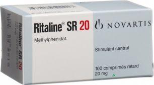 Риталин SR 20мг 100таб