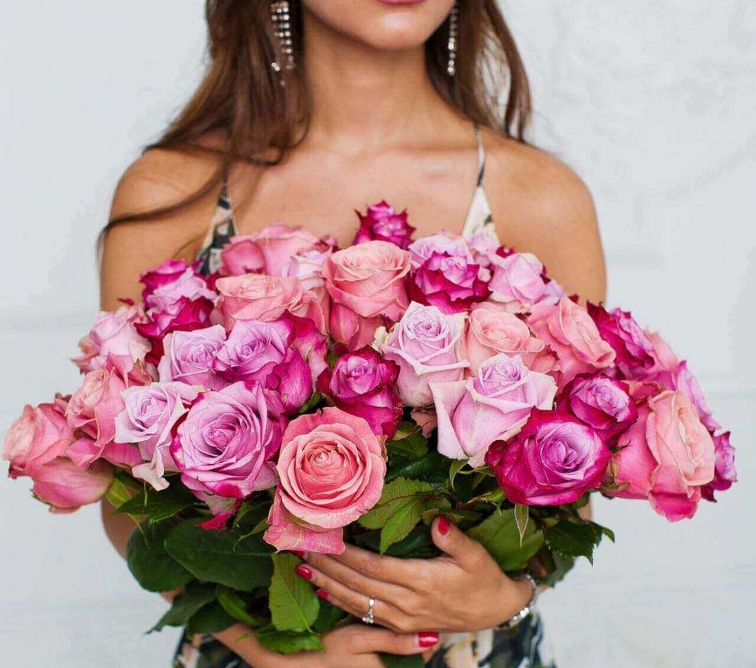 31 роза Рink,Рurple