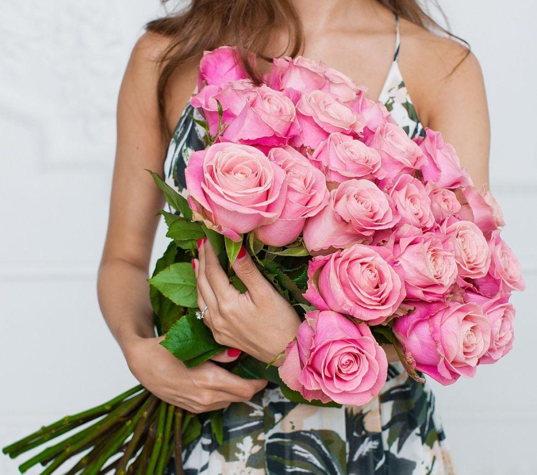 21 роз Hermosa