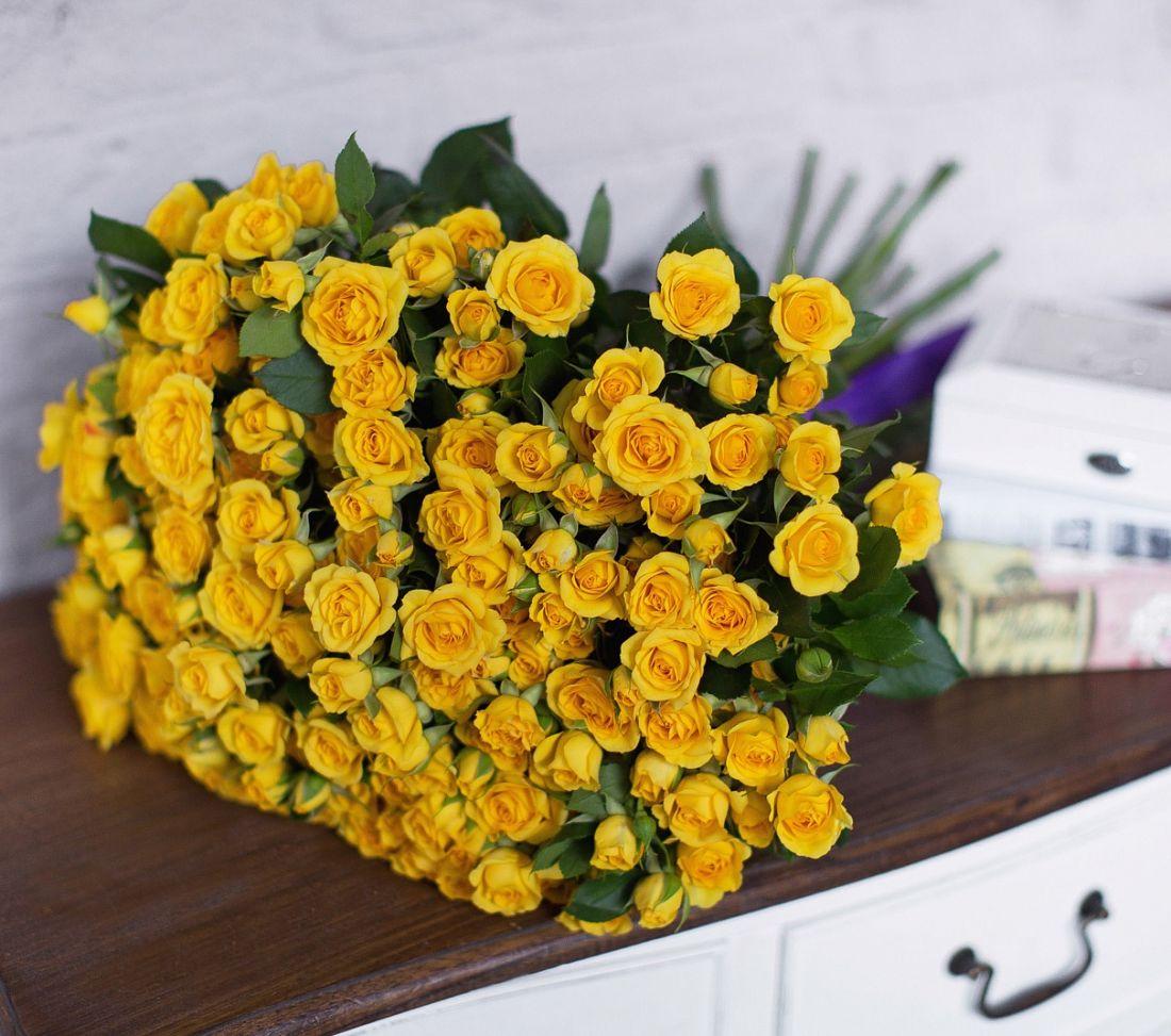 Роза кустовая Yellow 60 см.