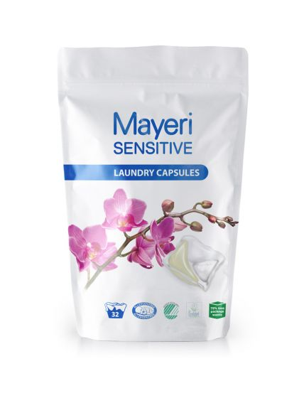 Капсулы для стирки цветного и белого. Гипоаллергенные. Mayeri Sensitive 32 шт.
