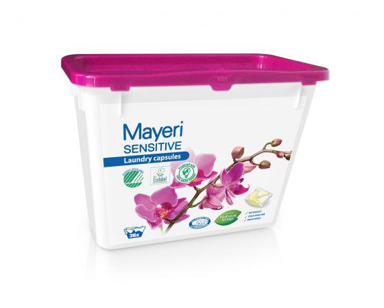 Капсулы для стирки цветного и белого. Гипоаллергенные. Mayeri Sensitive 36 шт.