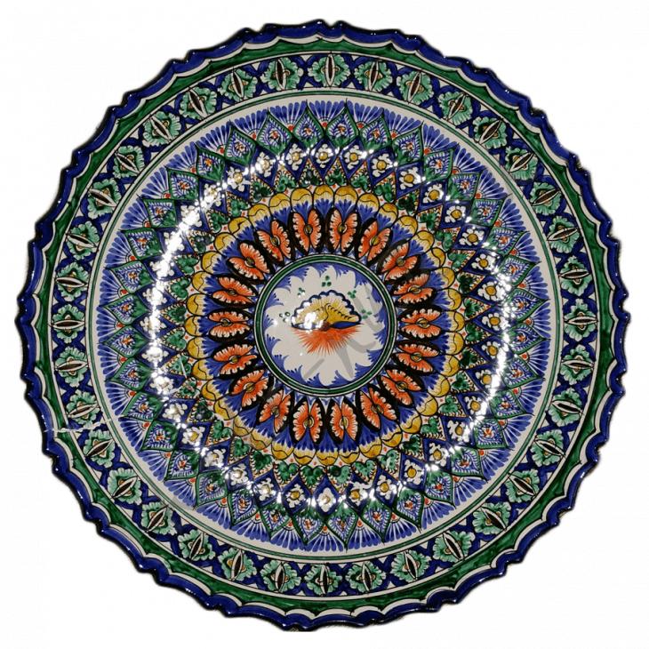 Тарелка с рифлеными краями, глубокая 42см