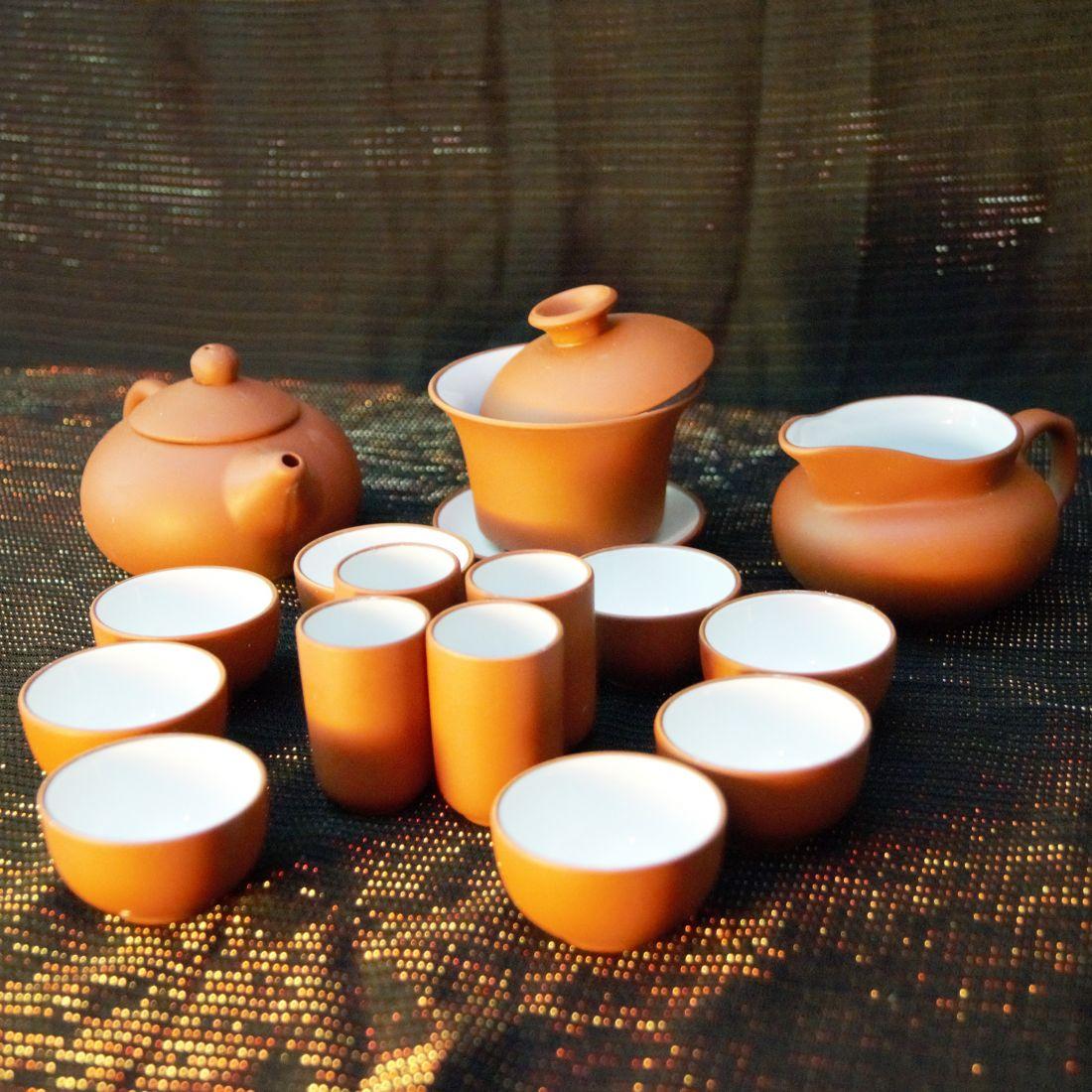красный чайный набор для Гунфу ча