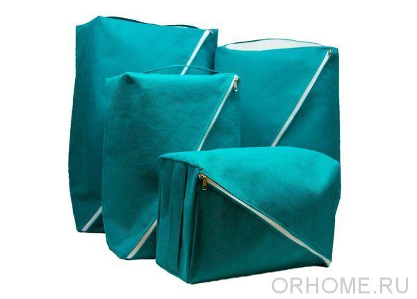 Комплект из 4-х органайзеров на молнии для хранения и транспортировки вещей
