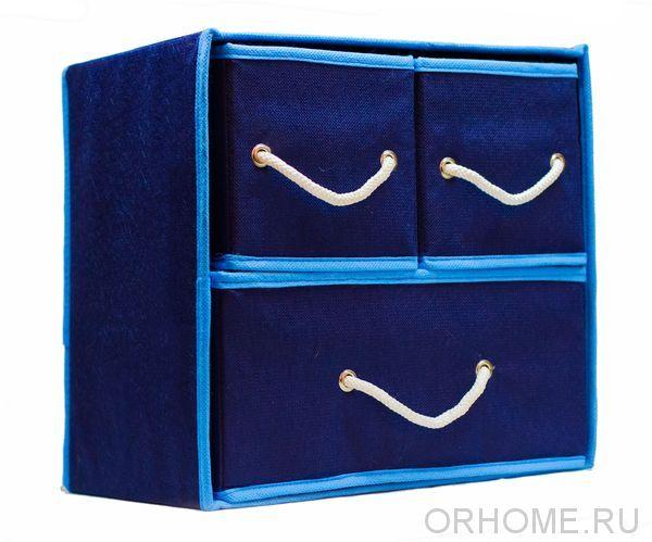 Настольный комодик с 3-мя выдвижными ящиками, 30*30*22 см