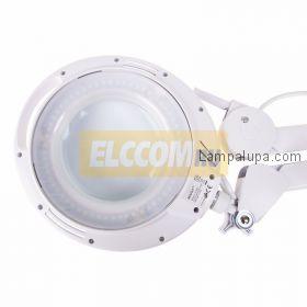 Лупа на струбцине круглая 3D с подсветкой 60LED, регулировка яркости, белая REXANT