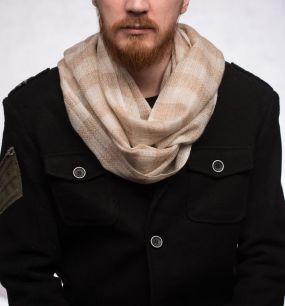 Мужской шарф из 100% кашемира (Москва)