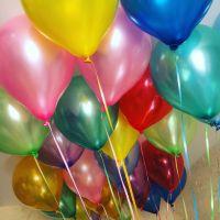 Облако разноцветных воздушных шариков металлик, разноцветное ассорти