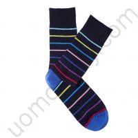 Носки Tezido синие в разноцветную полоску