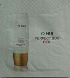 O HUI DAY SHIELD PERFECT SUN  RED SPF   50+/PA++++ - солнцезащитный антивозрастной крем (красный) от O HUI  пробник-саше 1 мл