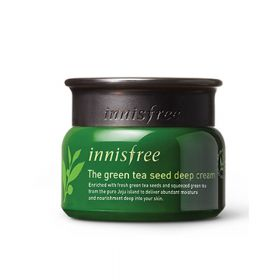 Innisfree Green tea seed deep cream 50ml - Крем с плотным защитным барьером влажности,
