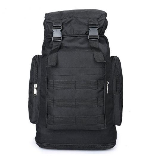 Походный военный рюкзак  на 60л + 15л цвет черный