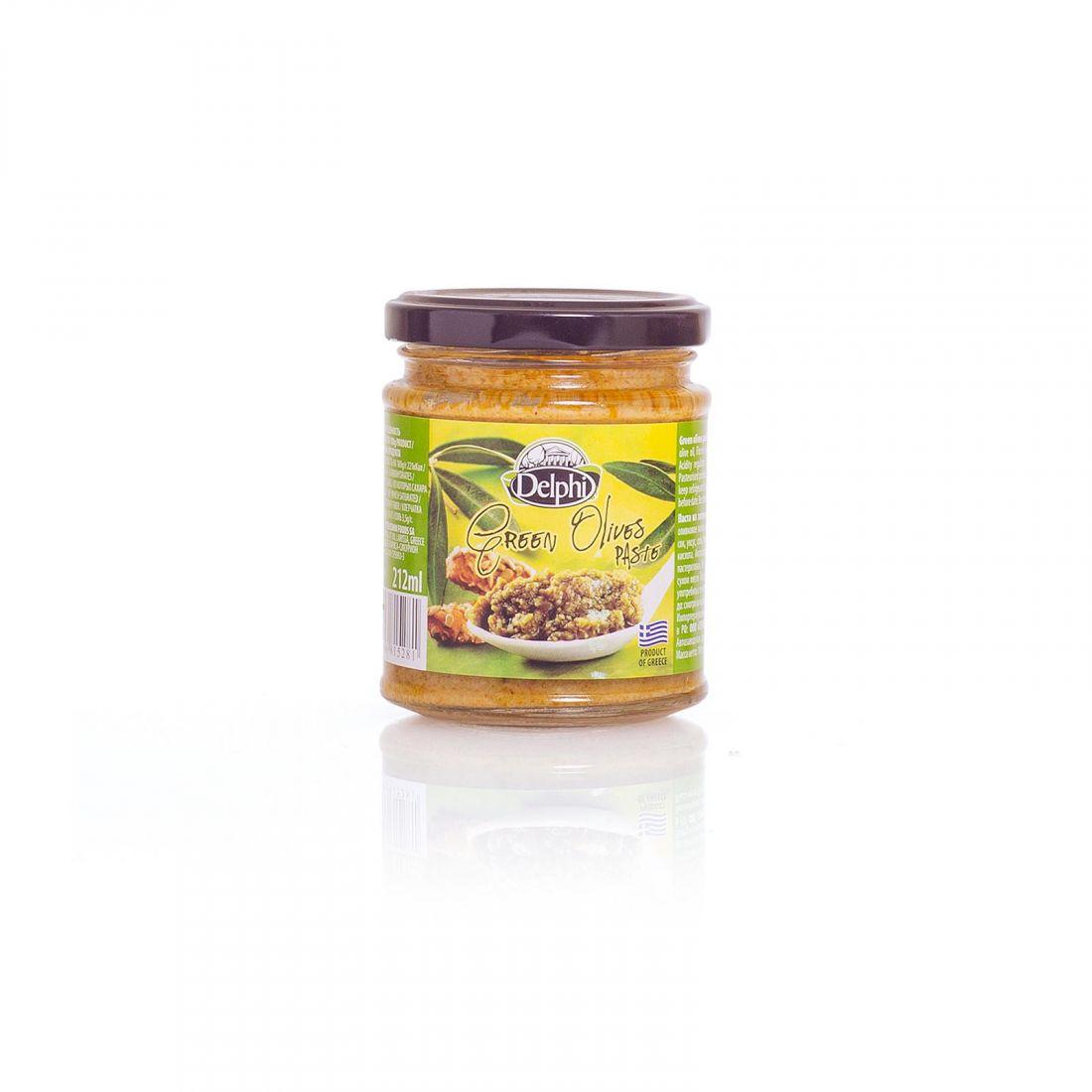 Оливковая паста из зеленых оливок Delphi - 190 гр