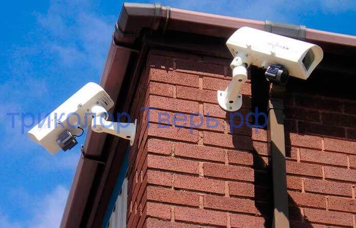 комплект видеонаблюдения на дом 4 камеры ( 2Мп iP )