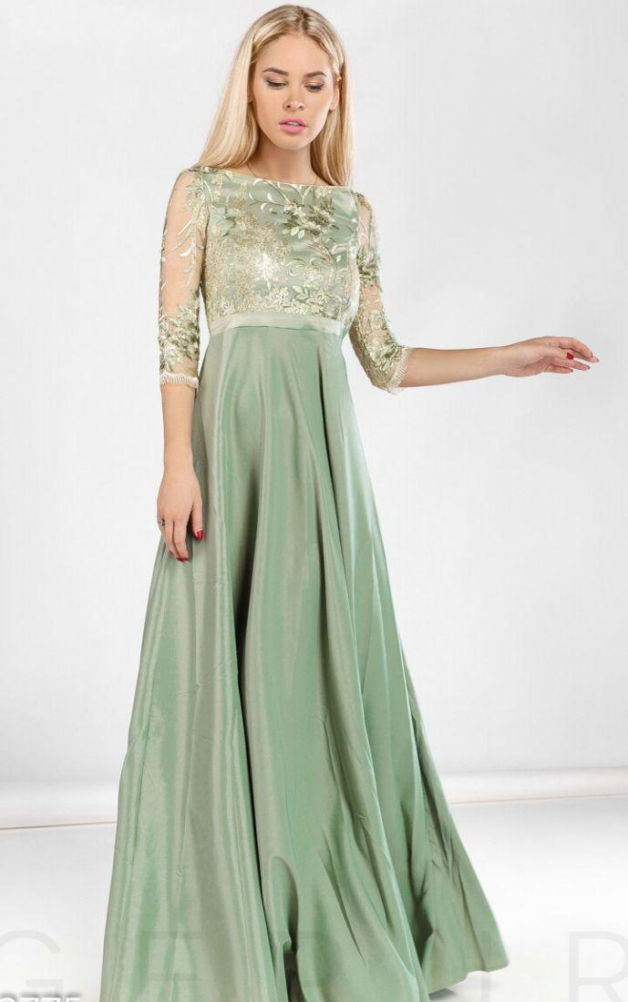 Торжественное платье-макси