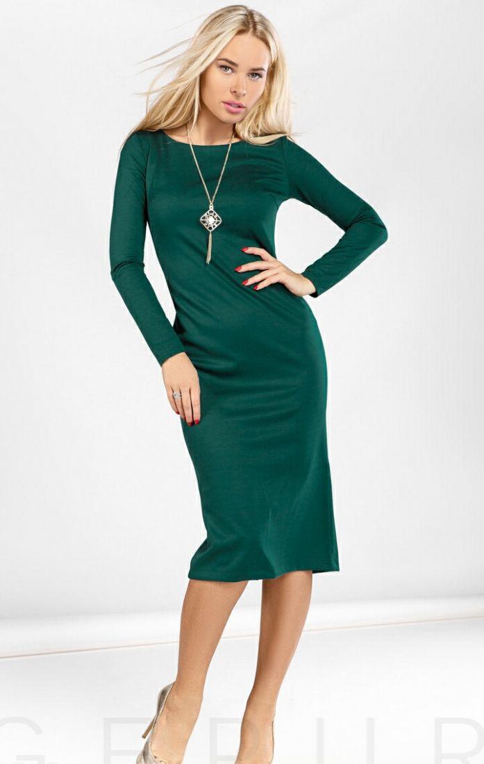 Выразительное платье-миди .