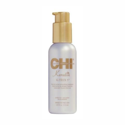 Разглаживающая эмульсия для волос с кератином/ CHI Keratin K-TRIX 5  Thermal Active Smoothing Treatment, 3,92oz/116мл фл.