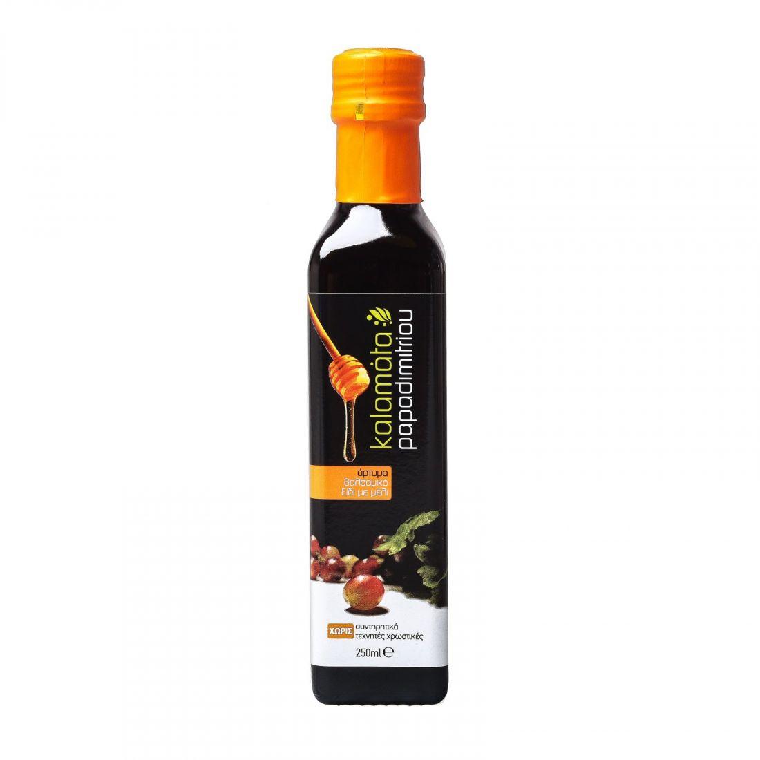 Бальзамический уксус с добавлением меда Kalamata Papadimitriou - 250 мл - в стекле