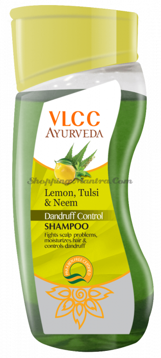 Шампунь против перхоти Лимон Тулси Ним VLCC Ayurveda Dandruff Control Shampoo