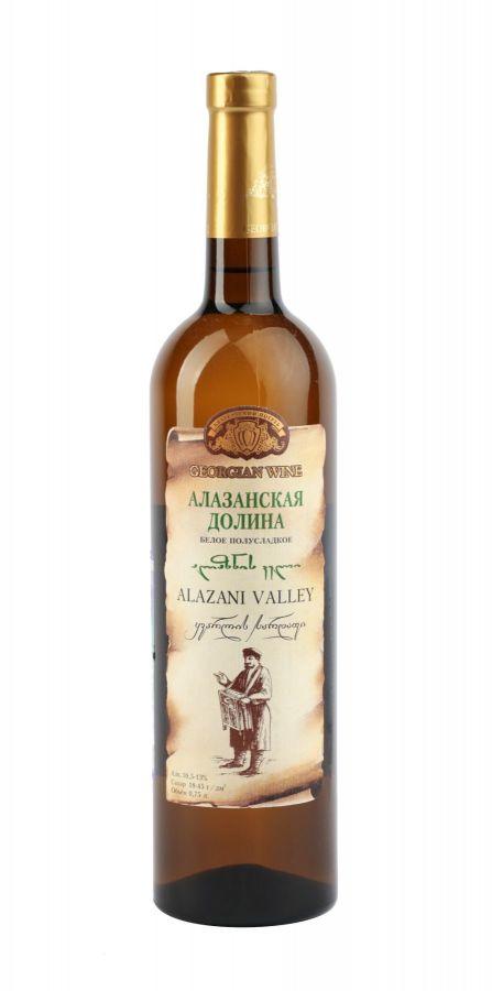 Вино Алазанская долина, Кварельский Погреб, белое, полусладкое, 0,75