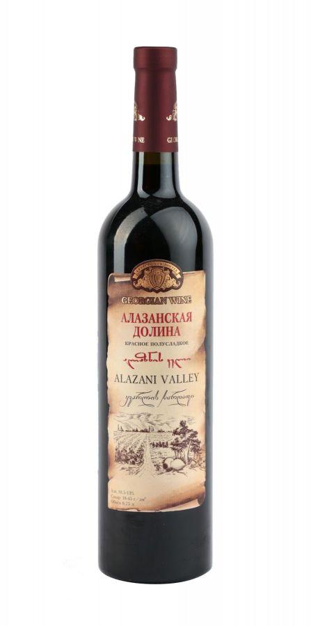 Вино Алазанская долина, Кварельский Погреб, красное, полусладкое, 0,75