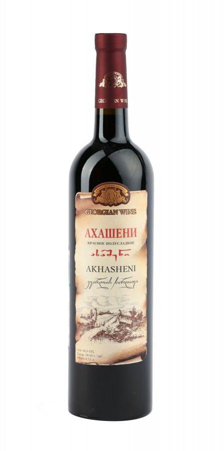 Вино Ахашени, Кварельский Погреб, красное, полусладкое, 0,75
