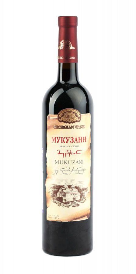 Вино Мукузани, Кварельский Погреб, красное, сухое, 0,75