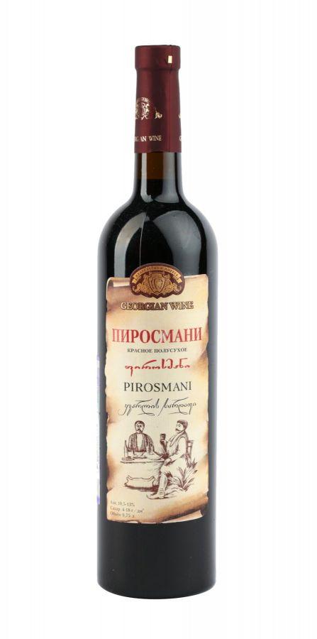 Вино Пиросмани, Кварельский Погреб, красное, полусухое, 0,75
