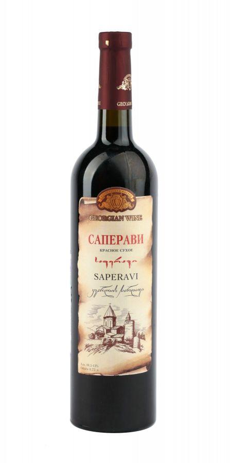 Вино Саперави, Кварельский Погреб, красное, сухое, 0,75