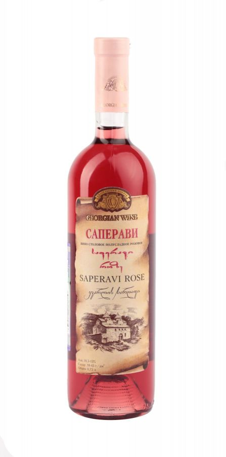 Вино Саперави, Кварельский Погреб, розовое, полусладкое, 0,75