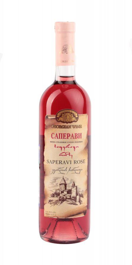 Вино Саперави, Кварельский Погреб, розовое, сухое, 0,75