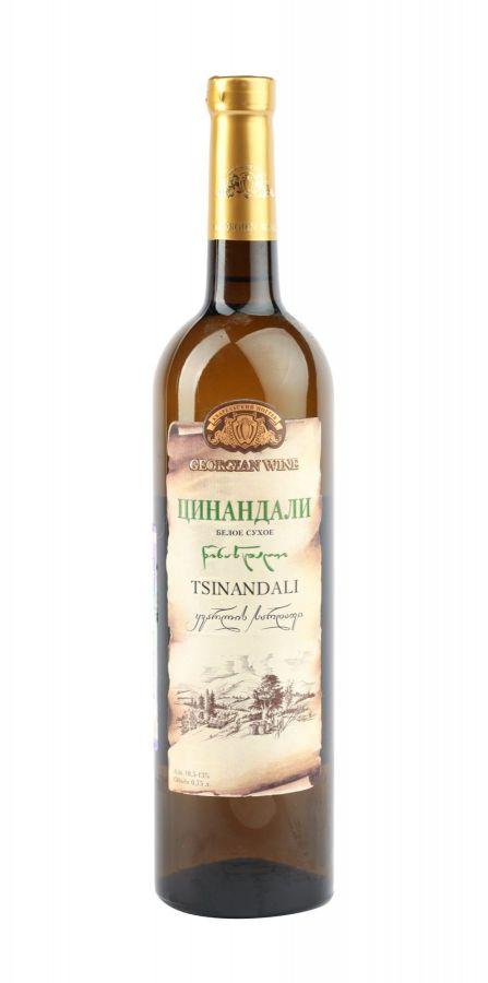Вино Цинандали, Кварельский Погреб, белое, сухое, 0,75