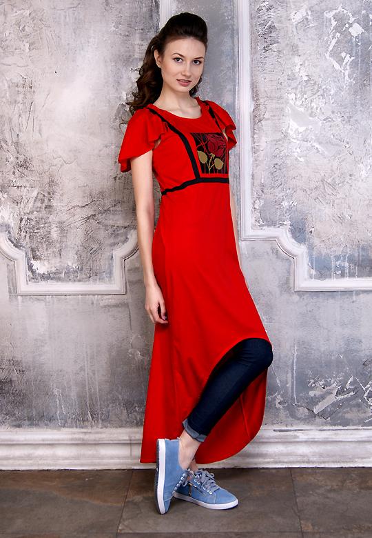Футболка-платье Роза